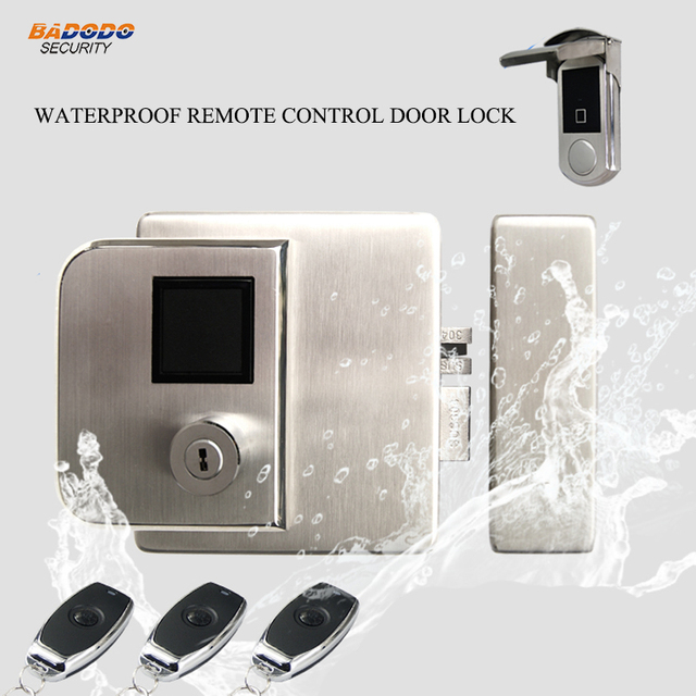 Wireless Waterproof Remote Control Door Lock Outdoor Used Electric Support Ic Rfid Card Reader Fingerprint Optional