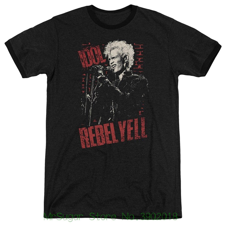 Billy Idol 80-х панк-рок певица Rebel Yell кирпичная стена взрослых Ringer футболка Принт футболки