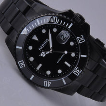Free shipping 40mm Parnis Ceramic Bezel Luminous Mark Men Automatic Watch PA4001PB