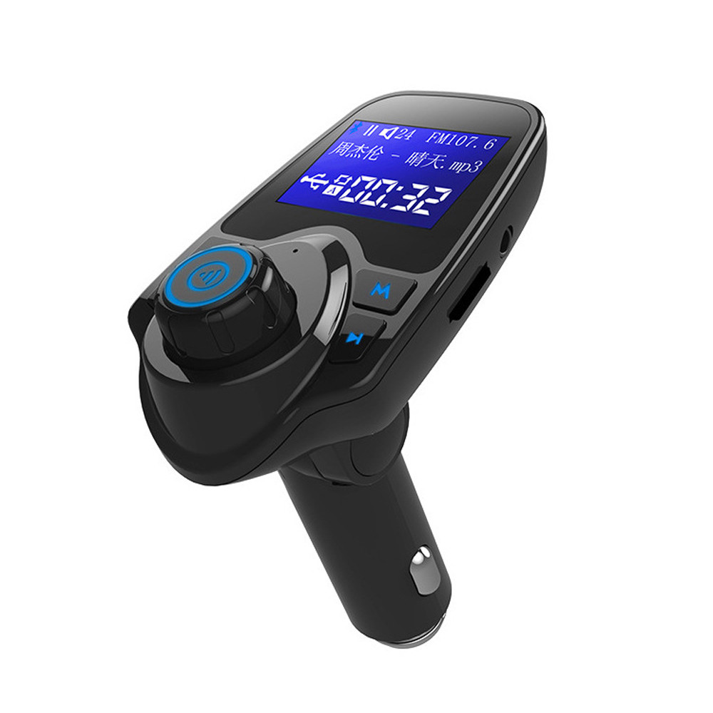 Image 2 - Car Mp3 Player Auto Hands Free Wireless Car AUX Audio Receiver FM Adapter USB Charger 1.44 Inches LargeScreen Dual USB port-in FM Transmitters from Automobiles & Motorcycles