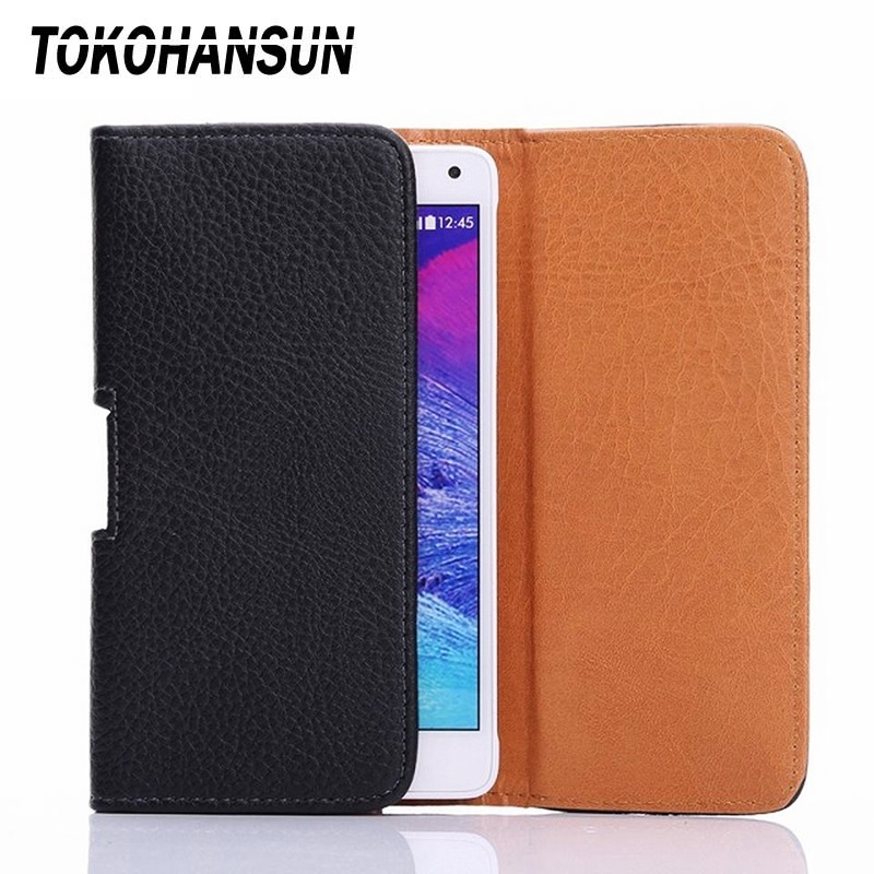 TOKOHANSUN New Smooth pattern/Lichee Pattern PU Leather Phone Belt Clip For <font><b>Philips</b></font> Xenium <font><b>E560</b></font> Pouch Cases image
