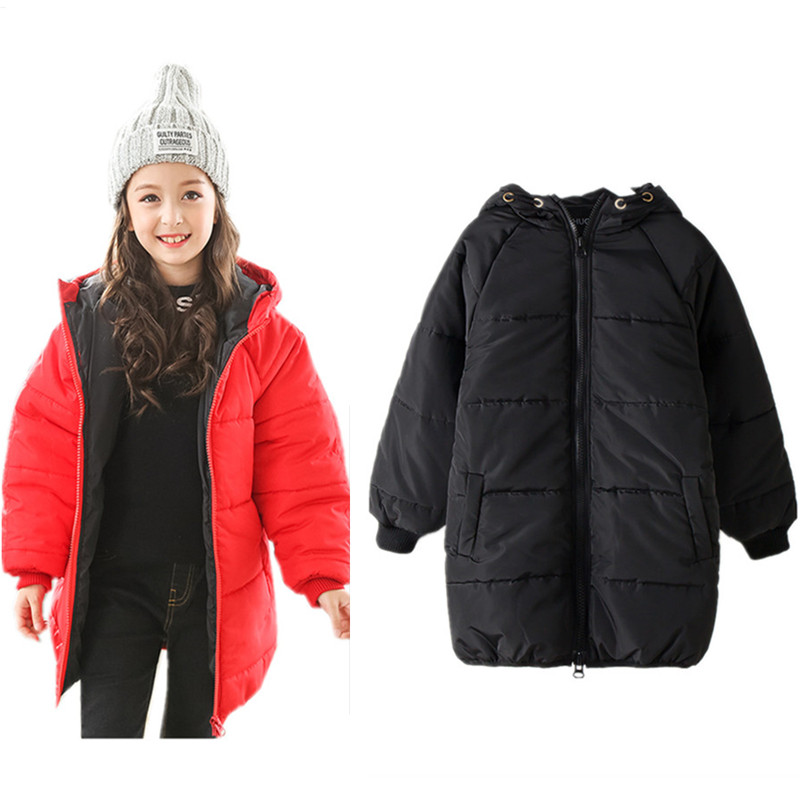 6 to 14 years kids & big teenager girls winter thick long bomber parkas jacket & coat children fashion casual hooded outwear fashion new women winter coat 2017 fashion hooded thick super warm medium long parkas long sleeve hooded big yards jacket 7l85