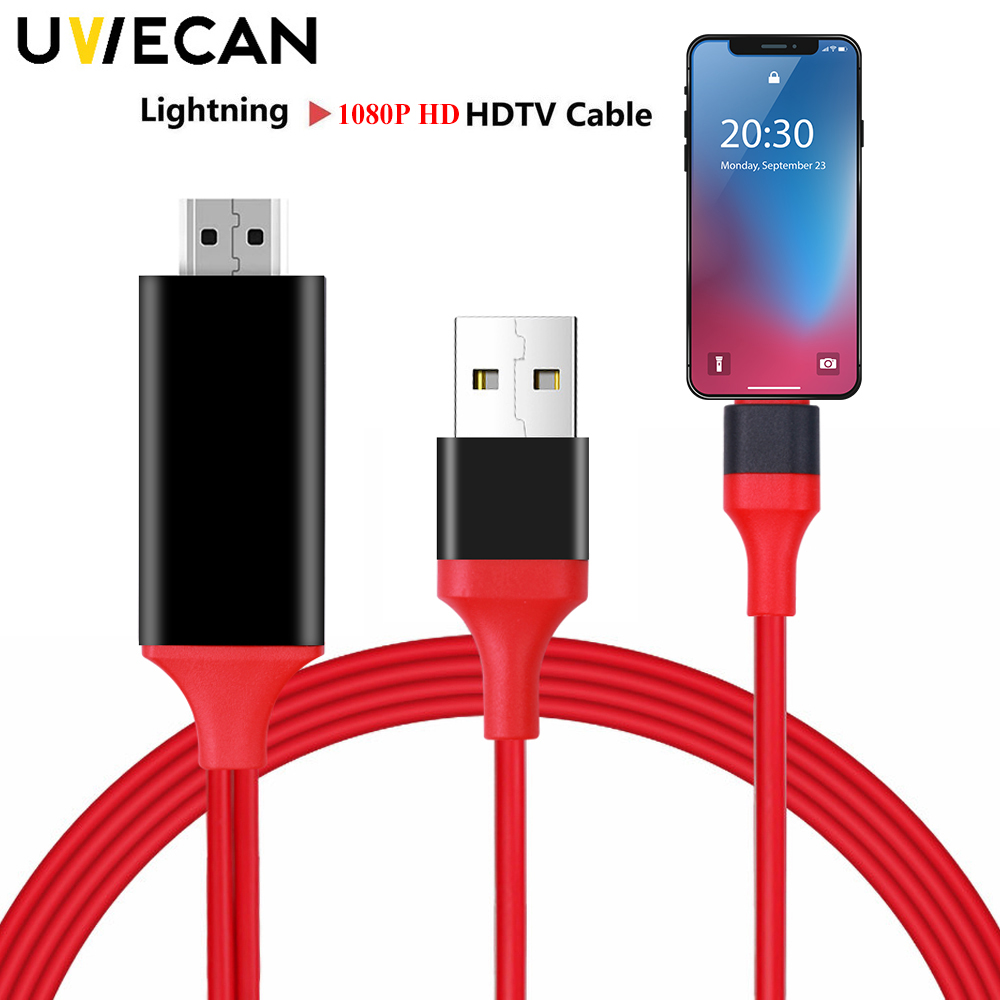 Useful 8 Pin Lightning to HDMI HDTV AV Cable Adapter for iPhone 8 7 6s 6 Plus US