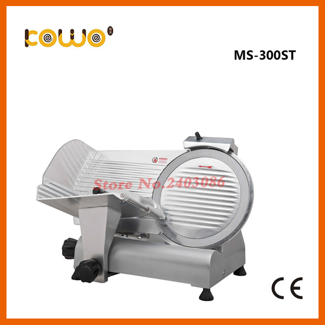 Kitchen Food Slicer Cabinet Countertop 12 Inch 300mm Blade Manual Frozen Meat Cutter Machine Aluminium Alloy Semi Automatic