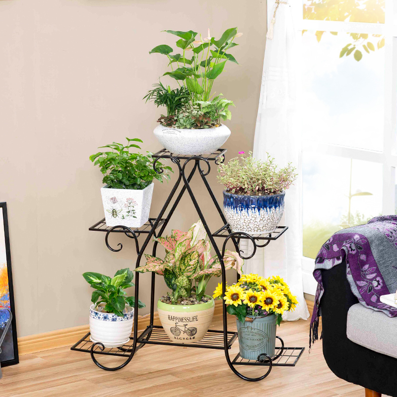 European style garden indoor iron modern plants balcony outdoor green flower shelf shelves decoration flowerpot rack european standard 25ft home garden flexible natural latex water pipe green