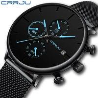2019 CRRJU модные мужские часы лучший бренд класса люкс бизнес сеть с кварцевые часы мужские часы спортивные часы relogio masculino