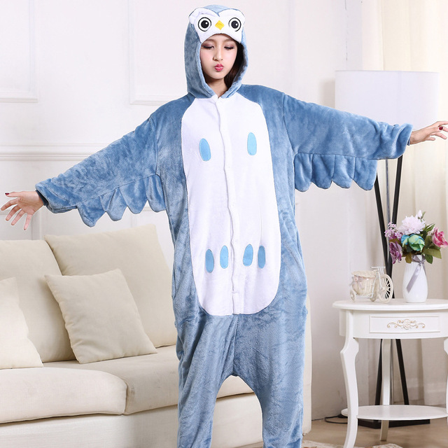 Animal Onesie Adult Women Men Overall Pajama High Quality Cartoon Funny Costume Party Suit Unicorn Pikachu Stitch Bear