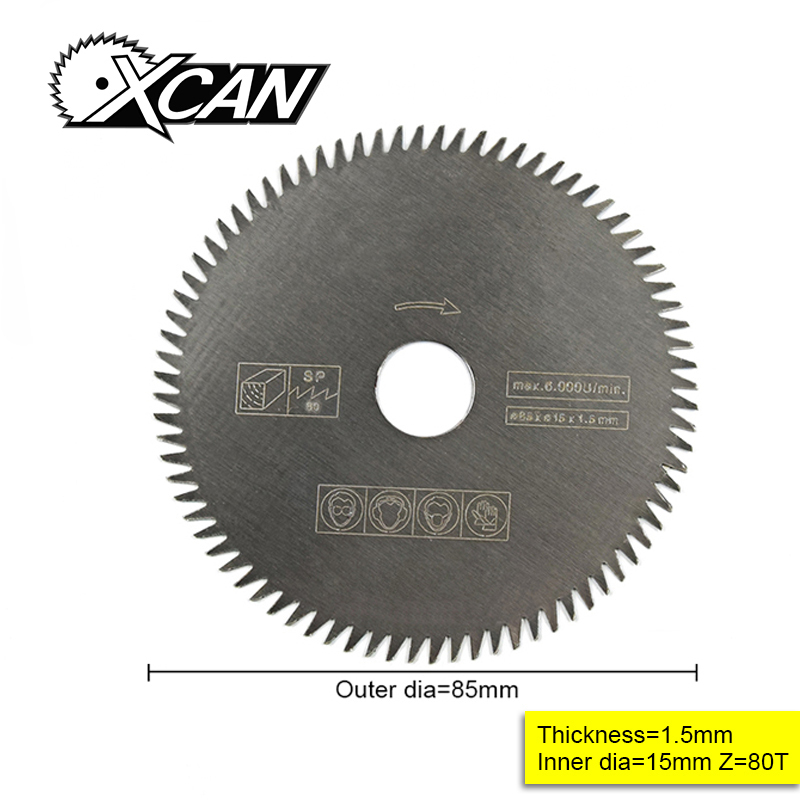 1pcs 85mm Electric HSS Mini Circular Saw Mini Power Saw For Wood Mini Power Tools 85*15*1.5 80 Tooth