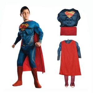 Image 2 - Пурим Хэллоуин костюм Человек паук Бэтмен Супермен костюм для мальчика Детский карнавальный костюм супергерой Мстители косплей одежда