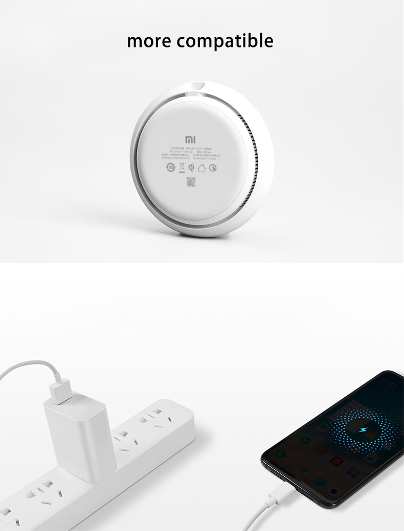 New Xiaomi Wireless Charger 20W Max 15V For Mi 9 (20W) MIX 2S / 3 (10W) Qi EPP Compatible Cellphone (5W) For iPhone XS XR XS MAX