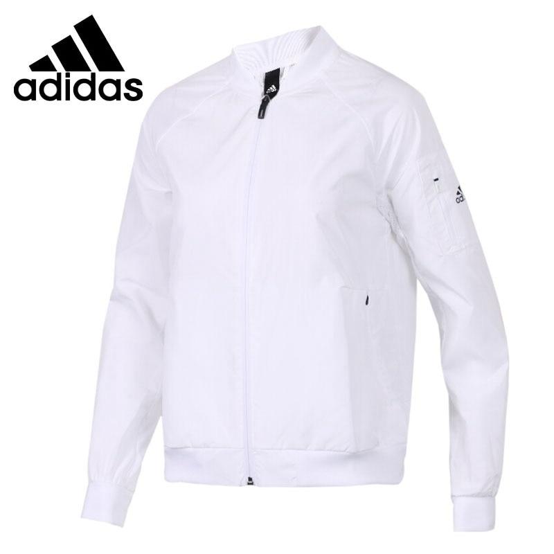 Original New Arrival 2018 Adidas WB BOMBER Women's jacket Sportswear striped trim fluffy panel bomber jacket