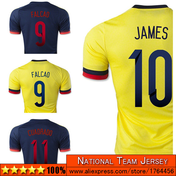 e75b629c035 Columbia soccer jersey 2015 16 home men fan version Camisetas Futbol 15 16  best thai quality Columbia football jersey 2016