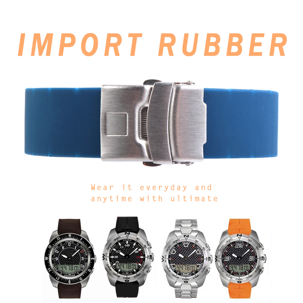 20mm 21mm T013 Expert Watch Band Curved End Silicone Waterproof Rubber Strap For 1853 T Touch COLLECTION T013420A T013T047 Man