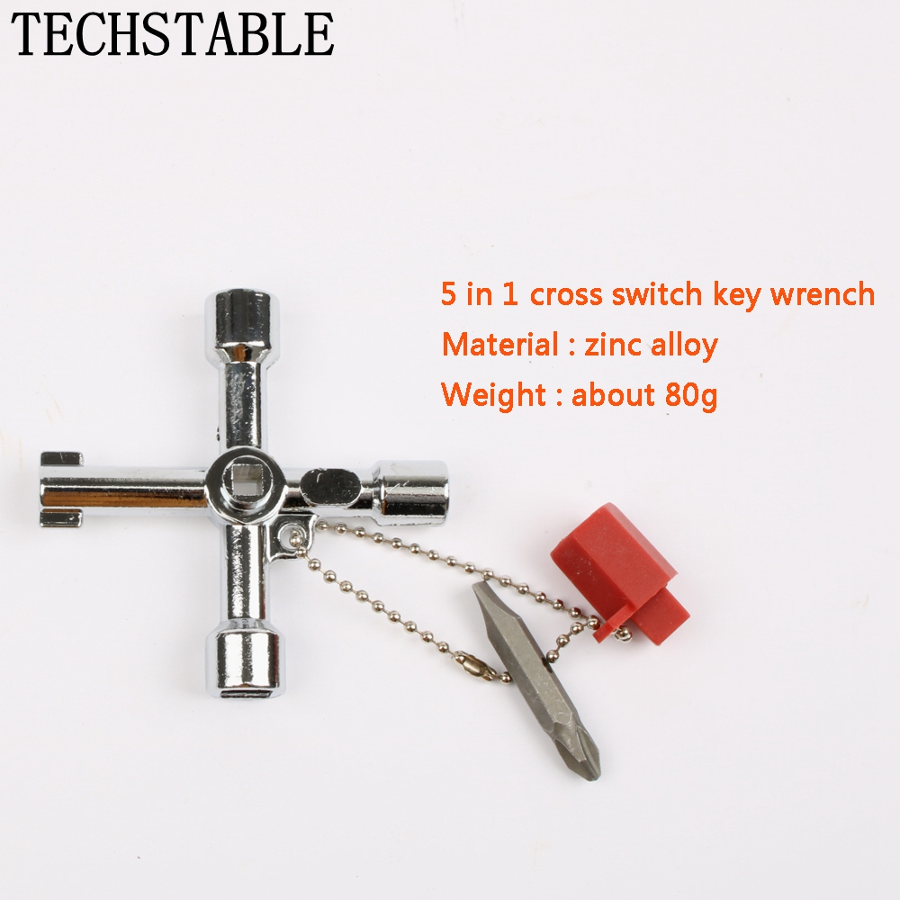 5 In 1 Cross Switch Key Wrench With Accessories Universal