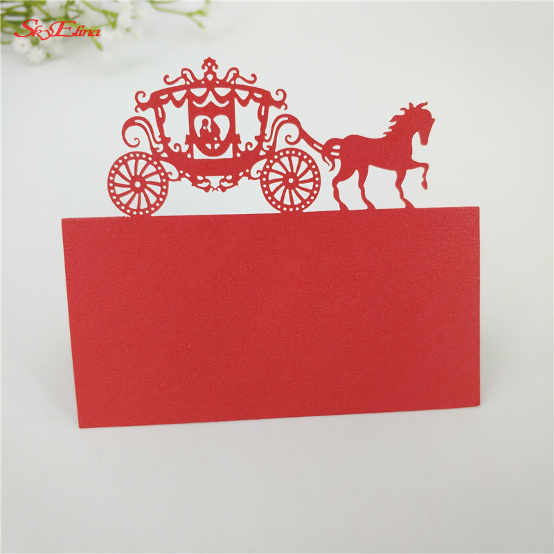 50pcs Laser Cut Classical wedding Carriage Name Place CardGuest Name Seat Card  Wedding Party Supplies 7zsh868
