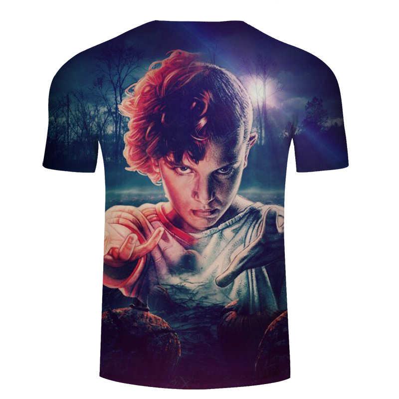 2018 di modo Uno Sconosciuto Le Cose di Stampa Divertente T-Shirt Da Uomo 3D Character Design Mens T Shirt Estate Pantaloni A Vita Bassa Top Homme Magliette Asiatico formato