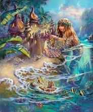 5D Diy Diamond Painting mermaid Cross Stitch Mosaic Embroidery Picture Rhinestones Gift Home Decora