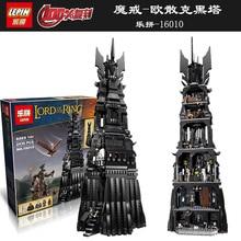 16010 2430 Unids Senor de los Anillos de La Torre de Orthanc Kits de Edificio Modelo Bloques  Ladrill de Regalo 10237