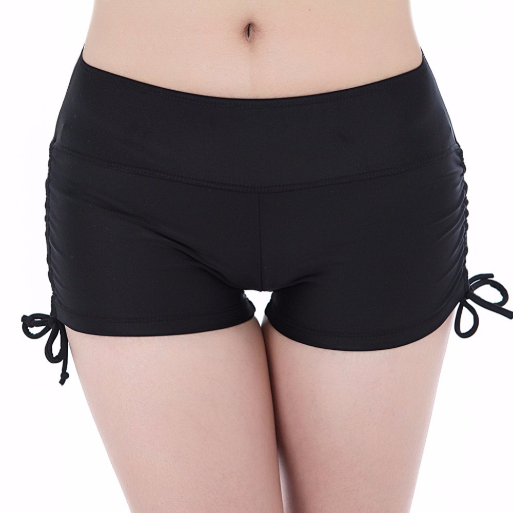 Hohe taille Bikini Bottoms beachwear badehose frauen badeanzug bottom Bikinis brazilian bikini bottoms Kurze Plus Szie XXL