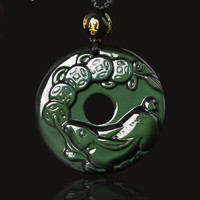 Kaiguang in 2019 Is a Sheep's Red Rabbit Gifts Treasure Obsidian Pendant Zodiac Safe Buckle Men and Women