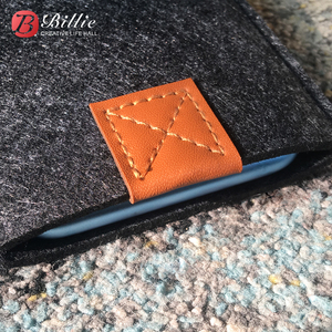 Image 5 - טלפון תיק צמר הרגיש פאוץ מגן מקרה תיק עבור iphone XR מקרי כיסוי טלפון נייד בעבודת יד שקיות עבור iphone xr 6.1 אינץ אפור