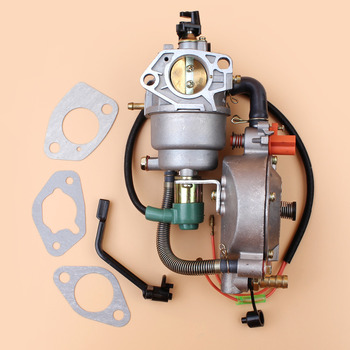 Manual Choke Dual Fuel Carburetor Fit Honda GX390 GX 390 Chinese Made 188F 13HP 4KW-5KW Gasoline Generator Engine Motor Parts tricycle extender gasoline generator fitting 18 48v 60v 72v copper coil rotor and the stator 3kw 4kw 5kw