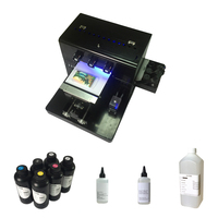 A4 size UV Printer for Phone Case, Acrylic, wooden, leather, ABS,TPU,T shirt.pen,glass mini A4 UV printer with 6*500ml UV ink