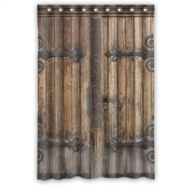 Medieval Door Waterproof Polyester Fabric Shower Curtain 48 By 72