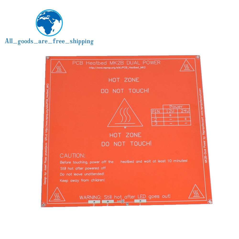Sporting Hot Sale 1pcs Red Pcb Heated Heat Bed Heatbed Mk2b Upgraded Mk2a For Mendel Reprap Cnc 3d Printer Hot Bed Hotbed Support 12v 24v Good Reputation Over The World Electronic Components & Supplies Active Components