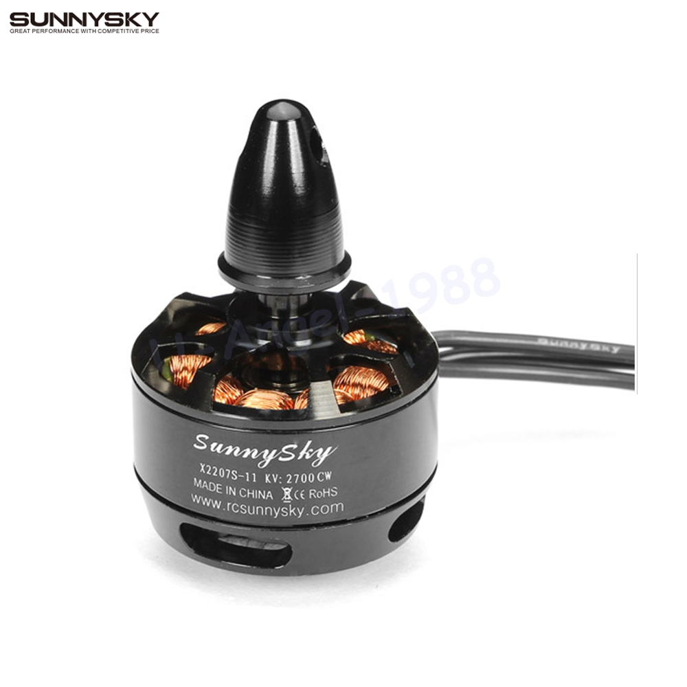 SUNNYSKY X2207S 2100KV 2700KV Outrunner CW CCW Brushless Motor for RC Quadcopter Multicopter DIY Drone F450 550 f08540 sunnysky a2208 1260kv 2 3s outrunner brushless motor angel series for aircraft quadcopter hexcopter