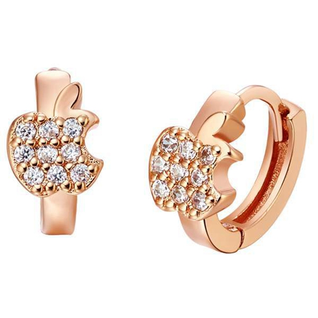 Lovely Childrens Huggie Earrings  Rose Gold Filled Baby Hoop Earrings Accessories Gift