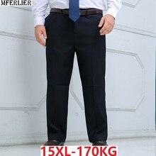 Зимний костюм брюки мужские официальные Брюки Большие размеры большие 8XL 9XL 10XL 12XL 14XL деловые прямые брюки большие размеры 54 56 58 костюм брюки