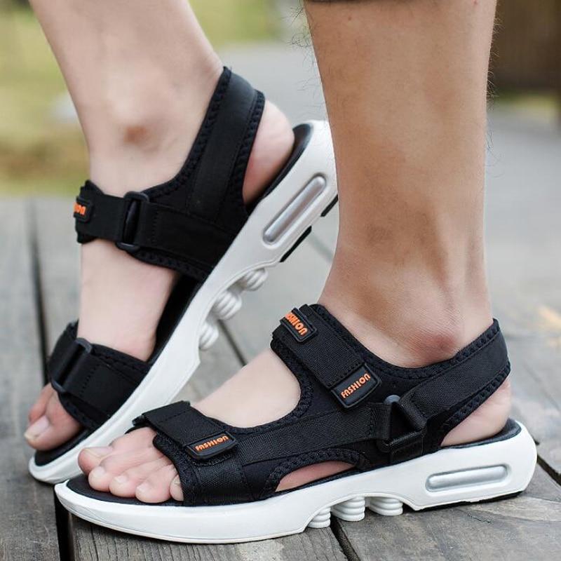 New arrivals 2018 men sandals casual summer flat beach shoes men comfortable summer sandals size 38-44