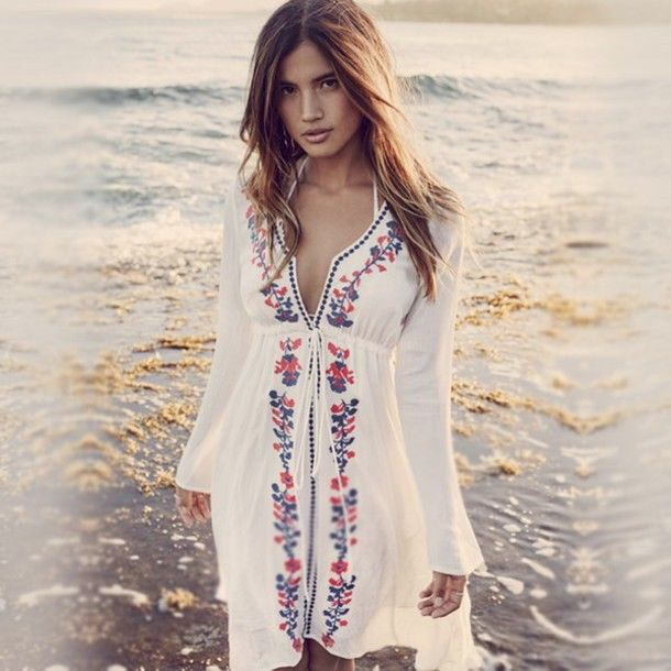 Sexy Women Floral Bathing Suit Bikini Swimwear Cover Up Summer Beach