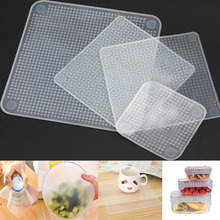 Multifunctional Food Fresh Keeping Wrap Kitchen Tools Reusable Silicone Food Wraps Seal Vacuum Cover Lid Stretch Can Single Buy