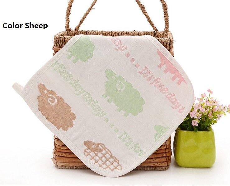 Купить с кэшбэком 3pcs/lot Baby hand towel New Super soft 100% Muslin cotton gauze 6 layers baby bath towel newborn handkerchief face square towel