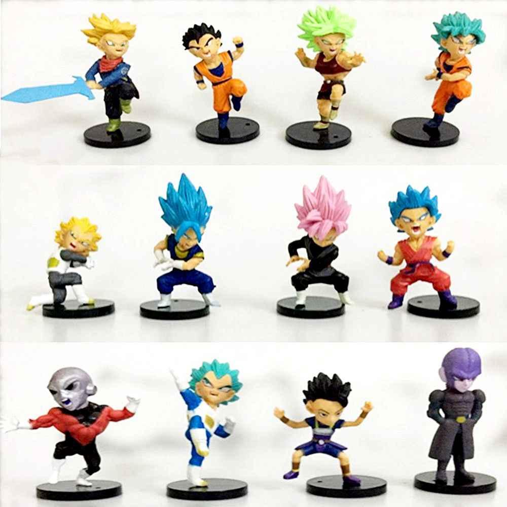1 pcs Super Dragon Ball Figura de Ação Broly Preto Deus Super Saiyajin Goku Vegeta Brolly PVC Anime Modelo Coleção Kid brinquedo