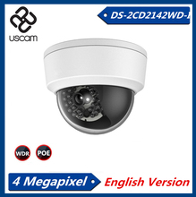2015 V5.3.3  English Version IP Camera DS-2CD2142FWD-I  2.8mm CCTV Camera   4MP  WDR  Dome Camera Security Camera