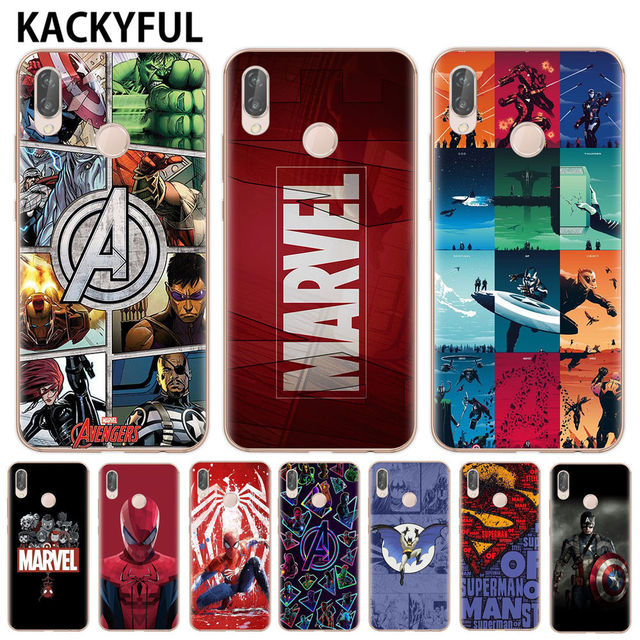 Marvel Avengers Heros Comics Collage Phone Case For Huawei P8 P9 Lite 2017 Mate 20 P10 P20 P30 Lite Pro Cover Soft Tpu Cover by Kackyful
