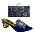 Blue Color Italian Shoes With Matching Bag Ladies Shoes And Bag Set To Match African Pumps Italian Wedding Shoes And Bag 9522-37