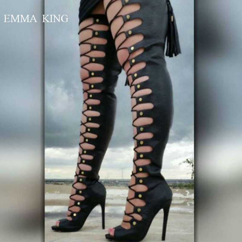 Nelly-Bernal-Lace-Up-Thigh-High-Boots