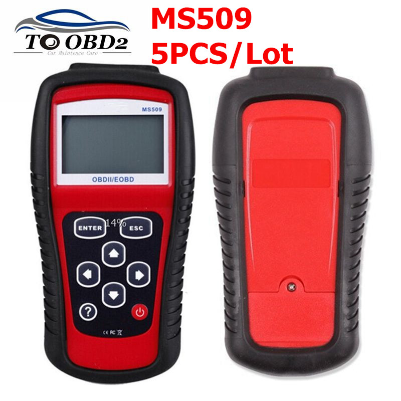 5pcs/Lot MS509 OBDII/EOBD OBD2 auto Code Reader Work For US&Asian&European Car Scanner support multi language best price on
