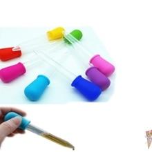 5 мл Прозрачная силиконовая пластиковая детская медицинская капельница ложка пипетка жидкая пищевая капельница, бюретка 12 см* 2 см случайный цвет