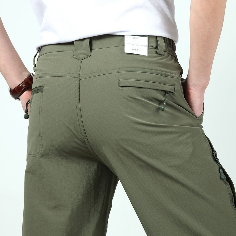 M~3XL 2016 New Spring Mens Plus Size Pants Quick Dry Breathable Long Short Trousers Man Straight Outdoor Waterproof Pantalones (3)