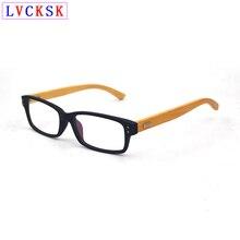Moda Vintage bambú madera piernas remaches transparente gafas mujeres hombres miopía presbicia óptica gafas graduadas con montura L3