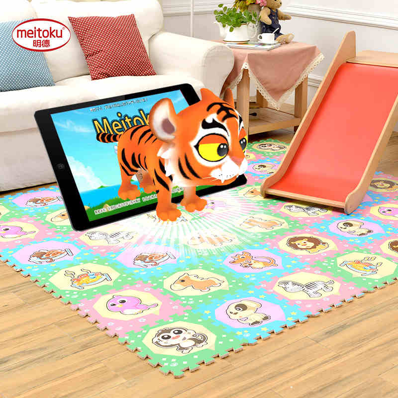 Meitoku 3D Baby play puzzle play mat, 9pcs / lot children Interlocking protection carrelage, tapis et moquette