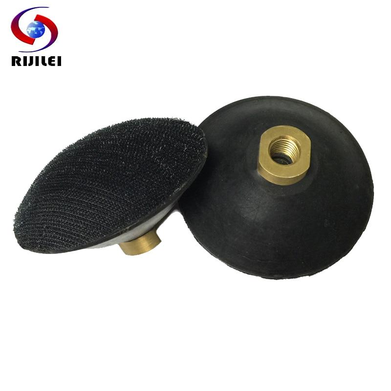 RIJILEI 4-palcový obloukový tvar pryžové opěrné destičky 3palcové pryskyřičné leštící destičky M14 / M16 držák konvexní opěrné destičky pro úhlovou brusku N002