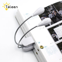 TSLEEN 1PC Mini White LED Clip Booklight Portable USB Travel Book Reading Light Lamp 1 2 3 4 8Leds Battery Operated Laptop Lamp(China)