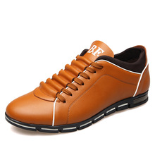 2017 High Quality Fashion Spring Men Flats Lace up Solid Color Big Size Male Casual Shoes Hot Sale