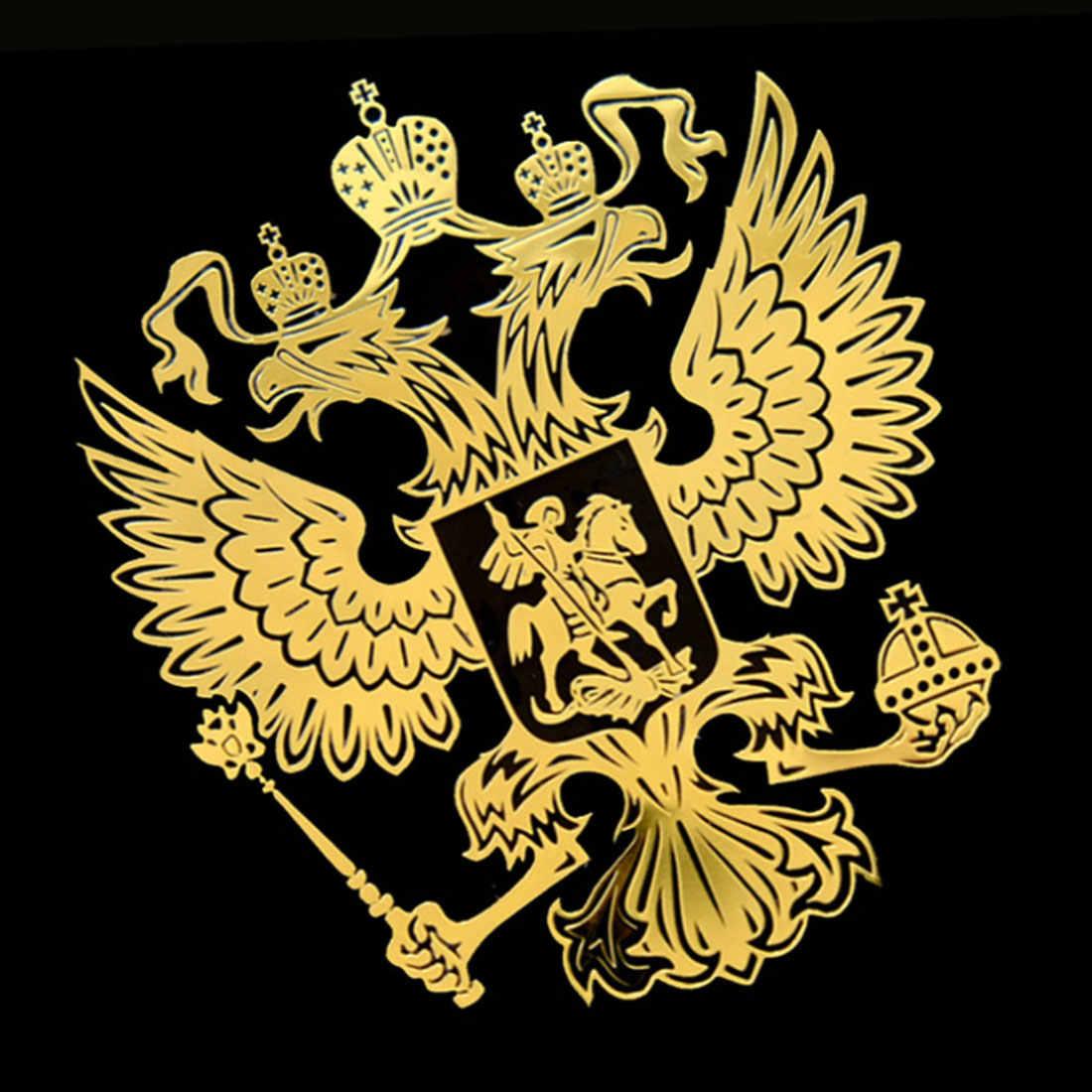Dewtreetali 6.0*5.4cm 9.0*8.4cm brasão de braços de rússia níquel metal adesivo decalques rússia federação russa adesivos de carro para computador portátil